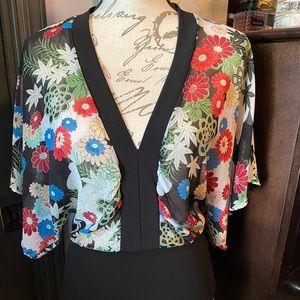 Vintage Wet Seal kimono sleeve blouse